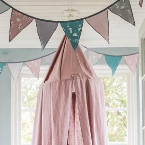 北欧 ベビー寝具 キャノピー 天蓋 子供部屋 スウェーデン製 麻 リネン100% ブルー ライトグレー ピンク NGbaby MOOD|villervalla|05