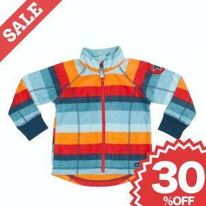 【40%OFF】北欧 子供服 ジャケット フリース ボーダー 星マーク 水色/オレンジ ピンク/緑 villervalla