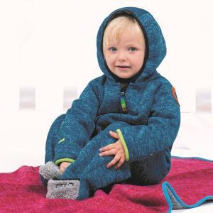 オーバーオール ベビー防寒 暖かいパイルフリース素材 青/赤|villervalla