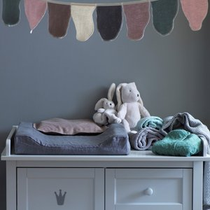北欧 ベビー寝具 オムツ交換台マット ベビー スウェーデン製 オーガニックコットン 青緑 ピンク NGbaby W&F|villervalla|03
