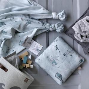 北欧 ベビー寝具 クッションカバー ベビー スウェーデン製 オーガニックコットン グリーン ピンク NGbaby W&F|villervalla
