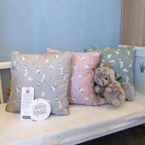 北欧 ベビー寝具 クッションカバー ベビー スウェーデン製 オーガニックコットン 青緑 グレー ピンク NGbaby W&F|villervalla