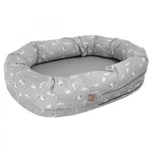北欧 ベビー寝具 スリーププール ベビーベッド お昼寝 スウェーデン製 オーガニックコットン グレー NGbaby W&F|villervalla