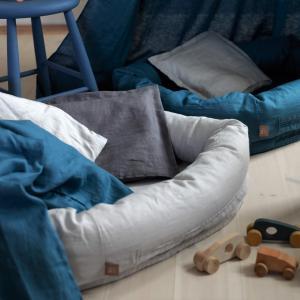 北欧 ベビー寝具 スリーププール ベビーベッド お昼寝 スウェーデン製 オーガニックコットン グレー NGbaby W&F|villervalla|02