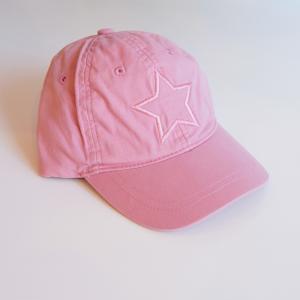 北欧 子供服 帽子 キャップ キッズ 星型 刺繍入り 綿100% ブルー ピンク|villervalla