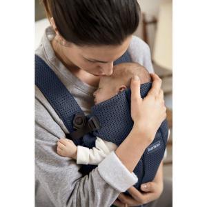 ベビービョルン 抱っこ紐 ベビーキャリア MINI エアーメッシュ アンスラサイト グレー 新生児 前向き 対面 2Way|villervalla|04