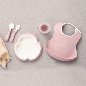 ベビービョルン ベビーディナーセット パウダーピンク 子供用食器セット|villervalla