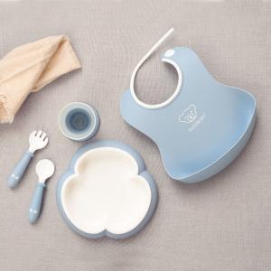 ベビービョルン ベビーディナーセット パウダーブルー 子供用食器セット|villervalla