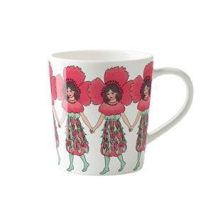 残り僅か 北欧 マグカップ poppy ポピー 花柄 妖精 エルサベスコフ 母の日|villervalla