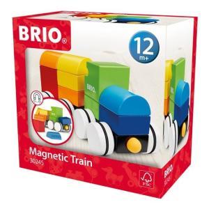 ブリオ   おもちゃ マグネット式スタッキングトレイン 電車 積み木 ブロック BRIO ギフト 北欧|villervalla