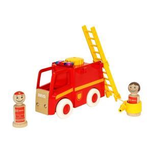 ブリオ おもちゃ BRIO マイホームタウン ライト&サウンド付消防車 知育玩具 ギフト 北欧|villervalla
