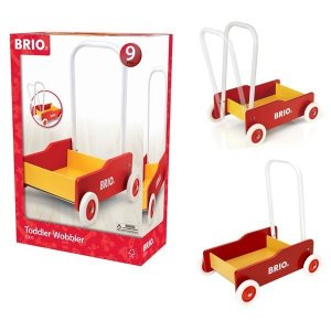 北欧 BRIO ブリオ おもちゃ 手押し車 黒 木製 ギフト|villervalla
