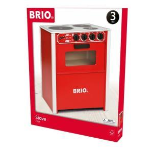 北欧 BRIO ブリオ おもちゃ レンジ 赤色 キッチン 木製 ギフト|villervalla