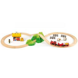 北欧 BRIO ブリオ おもちゃ バッテリーパワー機関車 電動式 木製レール ギフト|villervalla