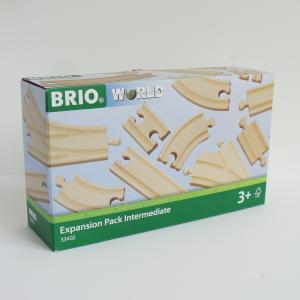 北欧 BRIO ブリオ おもちゃ 追加レールセット2 木製レール ギフト|villervalla