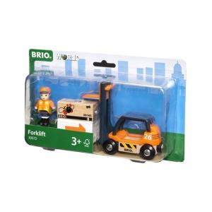 北欧 BRIO ブリオ おもちゃ フォークリフト 輸送車 車 ギフト|villervalla