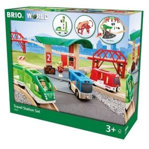 北欧 BRIO ブリオ おもちゃ トラベルステーションセット レール ギフト|villervalla