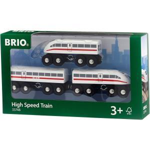 ブリオ おもちゃ サウンド付ハイスピードトレイン 電車 北欧 レール|villervalla