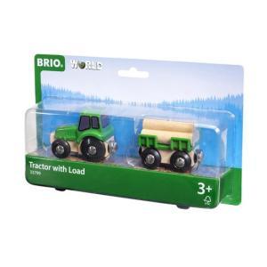 北欧 BRIO ブリオ おもちゃ トラクターと荷物 車 ギフト|villervalla