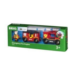 北欧 BRIO ブリオ おもちゃ ライト&サウンド付ファイヤートラック 消防車 車 ギフト|villervalla
