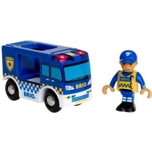 北欧 BRIO ブリオ おもちゃ ライト&サウンド付 ポリストラック 警察 輸送車 車 ギフト|villervalla