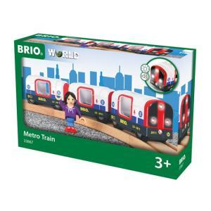 ブリオ おもちゃ 電車 ライト&サウンド付メトロ列車 おもちゃ ギフト 北欧 列車 乗り物 地下鉄|villervalla