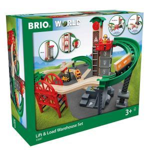 北欧 BRIO ブリオ おもちゃ ウェアハウスレールセット ギフト|villervalla