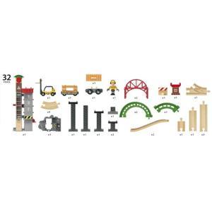 ブリオ ウェアハウスレールセット おもちゃ BRIO ギフト 北欧|villervalla|11
