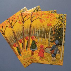 エルサベスコフ ポストカード 4枚セット3種 Elsa Beskow 絵はがき 北欧|villervalla