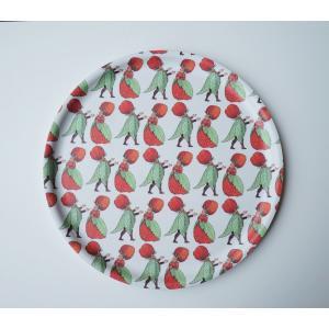 北欧 キッチン用品 トレイ お盆 イチゴ柄 エルサベスコフ 丸盆|villervalla
