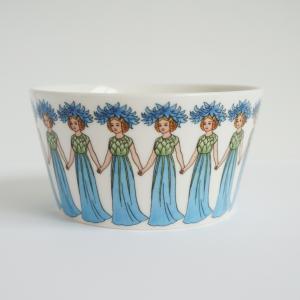 エルサベスコフ ボウル Cornflower ヤグルマギク 北欧雑貨 花柄 妖精 食器 母の日|villervalla