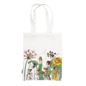 コットンバッグ  花のパレード エルサベスコフ キャンバス 肩掛け A4 リーサの庭の花まつり|villervalla