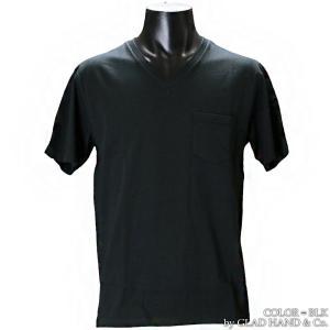 【返品不可】GLAD HAND GH0006 VネックポケットTシャツ 無地 V-NECK S/S STANDARD POCKET TEE SHIRT PLAIN グラッドハンド|vintage