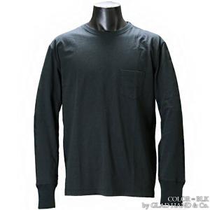 【返品不可】GLAD HAND GH0025 クルーネックTシャツ 無地 CREW NECK STANDARD POCKET L/S TEE SHIRT PLAIN グラッドハンド|vintage