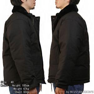 【返品不可】BUZZ RICKSON'S x WILLIAM GIBSON BR14276 デッキジャケット Type BLACK N-1 JUNGLE CLOTH DOWN FILLED|vintage|02
