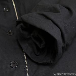 【返品不可】BUZZ RICKSON'S x WILLIAM GIBSON BR14276 デッキジャケット Type BLACK N-1 JUNGLE CLOTH DOWN FILLED|vintage|12