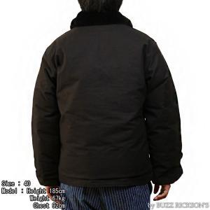 【返品不可】BUZZ RICKSON'S x WILLIAM GIBSON BR14276 デッキジャケット Type BLACK N-1 JUNGLE CLOTH DOWN FILLED|vintage|03