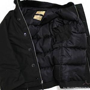 【返品不可】BUZZ RICKSON'S x WILLIAM GIBSON BR14276 デッキジャケット Type BLACK N-1 JUNGLE CLOTH DOWN FILLED|vintage|04
