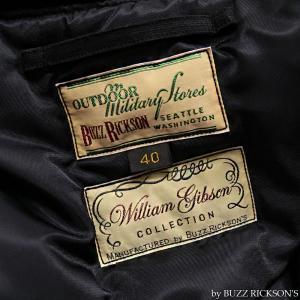 【返品不可】BUZZ RICKSON'S x WILLIAM GIBSON BR14276 デッキジャケット Type BLACK N-1 JUNGLE CLOTH DOWN FILLED|vintage|06