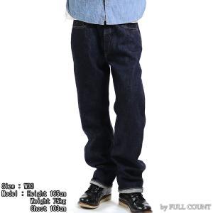 【返品不可】FULLCOUNT 1101W デニムパンツ 13.7oz. DENIM PANTS ORIGINAL STRAIGHT フルカウント【裾上げ対応】|vintage