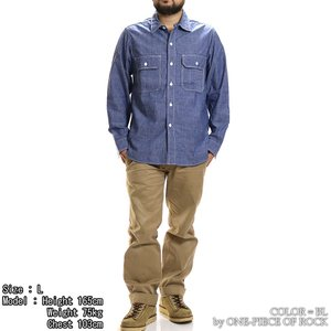 ONE-PIECE OF ROCK ORS19101 アンカースミスシャツ WORK SHIRTS L/S ANCHOR SMITH ワンピースオブロック|vintage|02