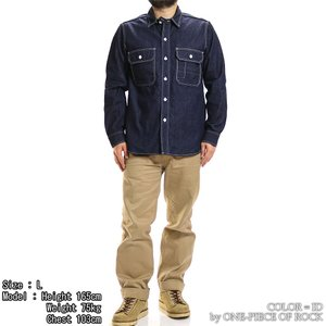 ONE-PIECE OF ROCK ORS19101 アンカースミスシャツ WORK SHIRTS L/S ANCHOR SMITH ワンピースオブロック|vintage|06