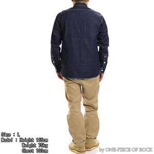 ONE-PIECE OF ROCK ORS19101 アンカースミスシャツ WORK SHIRTS L/S ANCHOR SMITH ワンピースオブロック|vintage|07