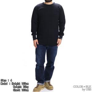 【返品不可】UES 60T 四本針ヘビーサーマルレギュラーTシャツ BIG WAFFLE TEE SHIRT L/S REGULAR ウエス|vintage|02