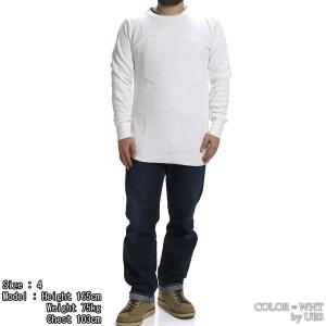 【返品不可】UES 60T 四本針ヘビーサーマルレギュラーTシャツ BIG WAFFLE TEE SHIRT L/S REGULAR ウエス|vintage|06