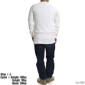 【返品不可】UES 60T 四本針ヘビーサーマルレギュラーTシャツ BIG WAFFLE TEE SHIRT L/S REGULAR ウエス|vintage|07