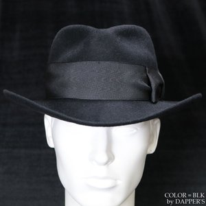 【返品不可】DAPPER'S 1221 クラシカルワイドブリムハット CLASSIC RABBIT FUR HAT ダッパーズ vintage