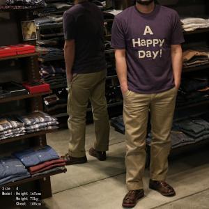 【返品不可】UES 651841 Tシャツ クルーネック CREW NECK TEE SHIRT S/S A HAPPY DAY! ウエス|vintage