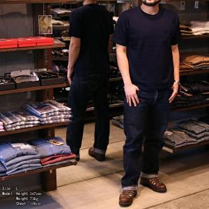 【返品不可】WARE HOUSE 4053 インディゴポケットTシャツ クルーネックT CREW NECK INDIGO POCKET TEE SHIRT S/S ウエアハウス|vintage