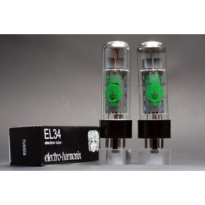 EL34 EH 2本マッチ 高パワー 真空管HX23|vintagesound